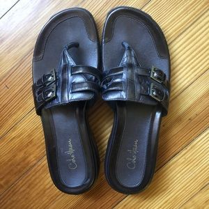 Cole Haan brown sandals. Worn once. 7 1/2 b.